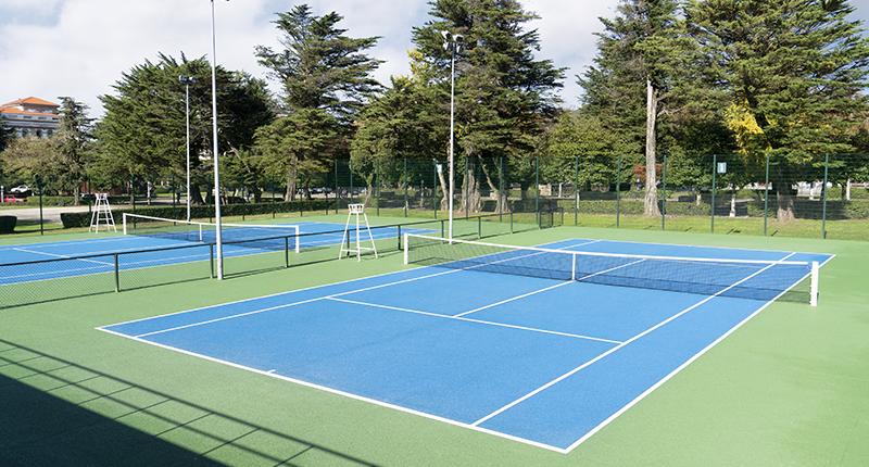 Pista de tenis azul