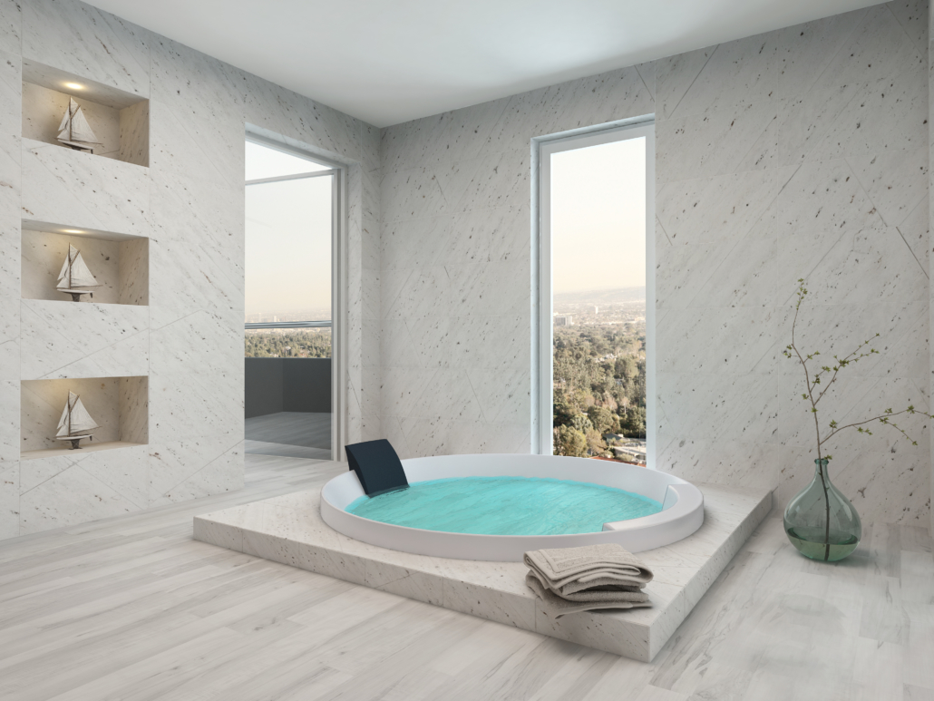 construcción piscina agua fría